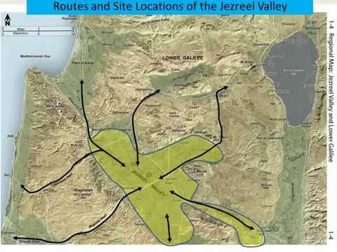 06 Satellite Bible Atlas Map 1-4 Jezreel Valley 耶斯列平原