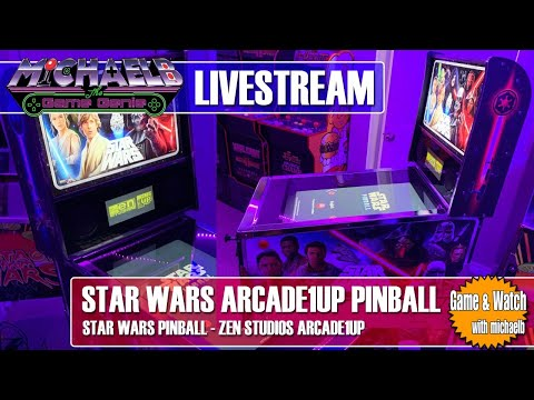 Star Wars Arcade1Up Pinball Live Gameplay | MichaelBtheGameGenie from MichaelBtheGameGenie