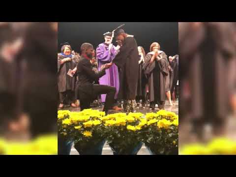 University of Michigan grad caps commencement with wedding proposal