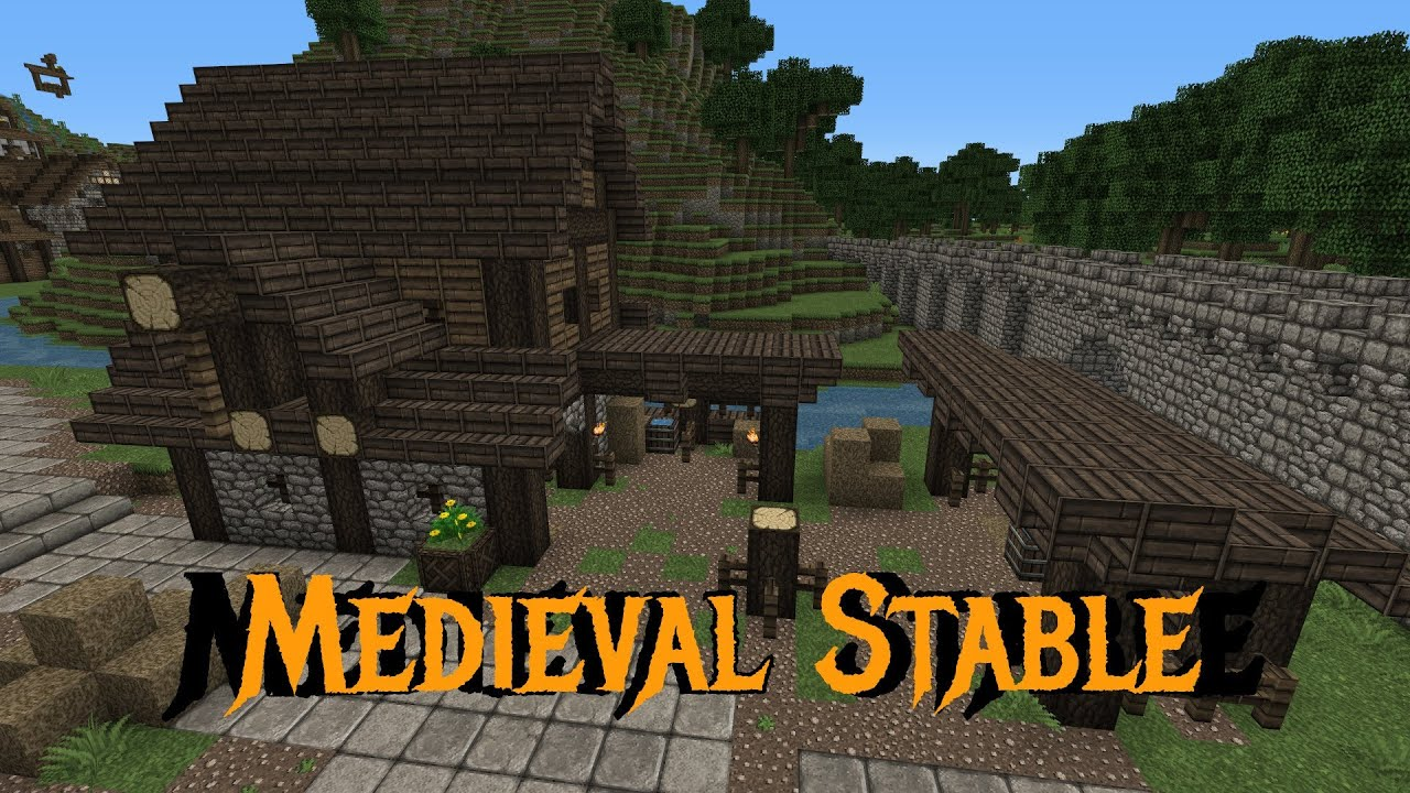 Minecraft Gundahar Tutorials Medieval Stable Youtube