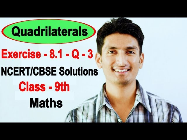 Chapter 8 Exercise 8.1 Question 3 - Quadrilaterals Class 9 Maths - NCERT Solutions