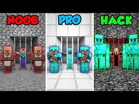 Minecraft NOOB vs. PRO. vs. HACKER: PRISONER GUARD CHALLENGE in Minecraft! (Animation)
