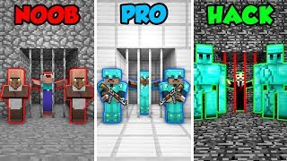 Minecraft NOOB vs. PRO. vs. HACKER: PRISONER GUARD CHALLENGE in Minecraft! (Animation)