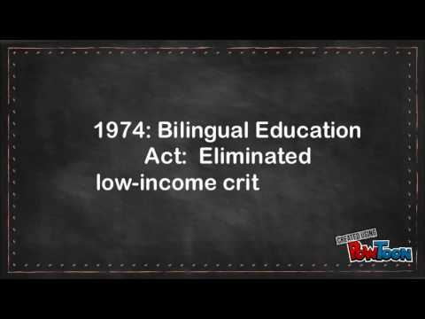 History of Bilingual Education