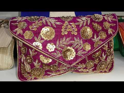 Fancy Clutch Bag Desings 2019 || Hand Work Embroidery Designs || Bangladeshi Vlogger.