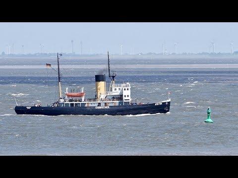 4K | Icebreaker STETTIN - Eisbrecher Dampfschiff - Elbe
