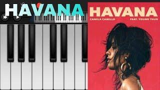 تعليم عزف أغنية هافانا havana على بيانو المبايل بطريقة سهلة ومبسطة❤