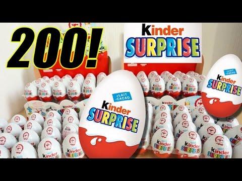 200 Kinder Surprise Eggs with Toys Cars NEW collection 2015 - Huevos Kinder Sorpresa