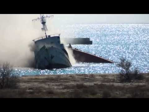 Ship got sunk in Black Sea, Ukraine to block entrance