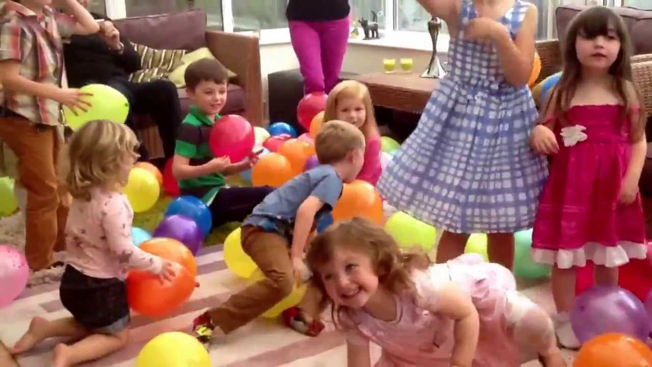 Lucys 3rd birthday balloon drop YouTube
