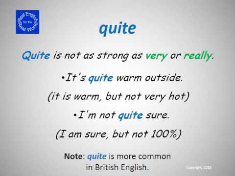 Intensifiers in English