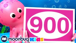 100 -1000 Song   Little Baby Bum - Learn   ABC 123 Moonbug Kids   Fun Cartoons   Learning Rhymes
