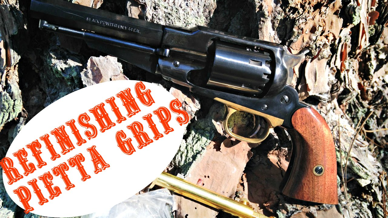 How To Refit/Refinish Single Action Revolver Grips