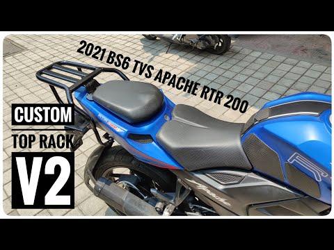 2021 TVS APACHE RTR 200 4V | Custom Top Rack v2 | DIY Install | Touring Modifications | DNA VLOGS