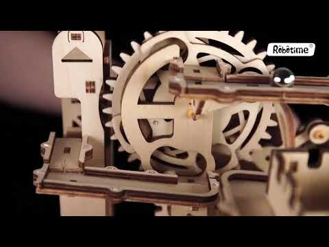 3D Self-Assembly Wooden Marble Run Waterwheel Coaster Puzzle Building Kits