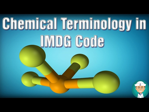 Chemical Terminology Found in The IMDG Code