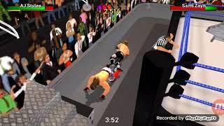 WWE week 2 SDL SAMI VS AJ STYLES WR3D INTERCONTINENTAL CHAMPIONCHIP MATCH!!!