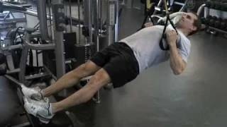trx row with elevated feet