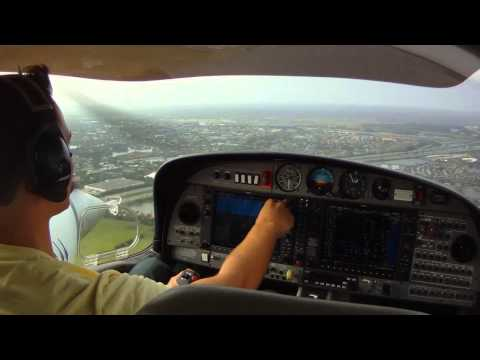 Pilots View takeoff and landing Cockpit GoPro North Perry  KHWO-KFXE in DA42 Diamond Twinstar.