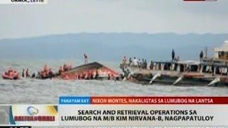 BT: Search and retrieval operations sa lumubog na M/B Kim Nirvana-B, nagpapatuloy