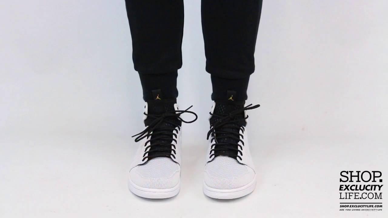 15b184cd213 Air Jordan 1 Ultra High Retro White Black On feet Video at Exclucity ...