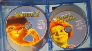 Shrek 4-Movie Collection Anniversary Edition Blu-Ray Unboxing