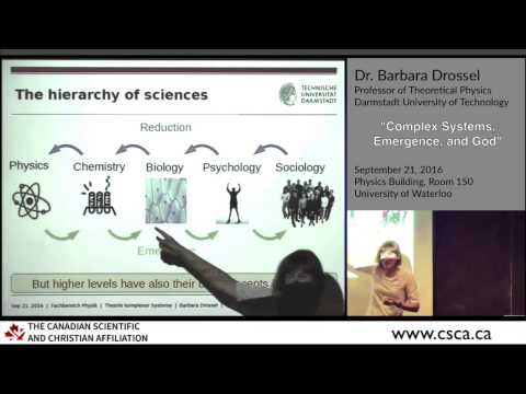 Reductionism, Dawkins, & Intelligent Design (Barbara Drossel lecture highlights)