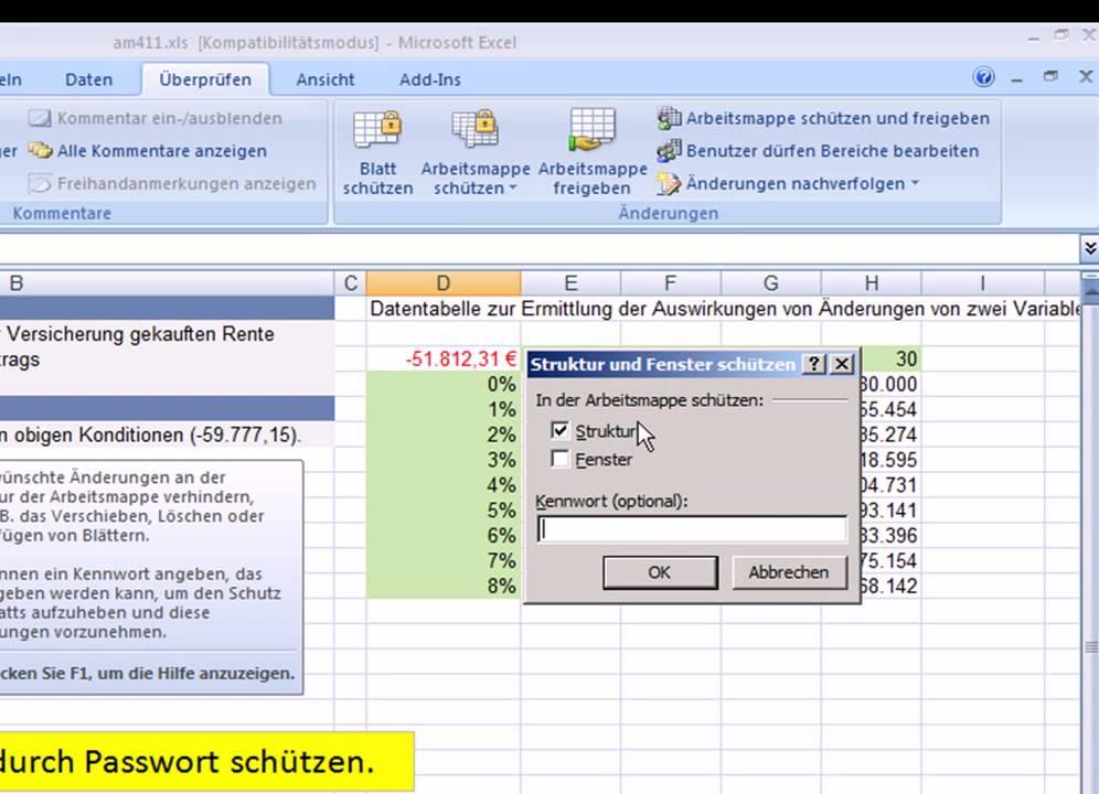 Magnificent Wie Ein Arbeitsblatt In Excel Zu Schützen Ideas ...