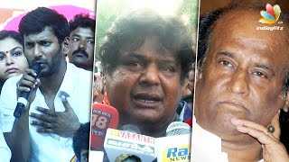 Rajini too busy to attend Common Meet : Mansoor Ali Khan Nadigar Sangam Speech | Vishal @ Press Meet