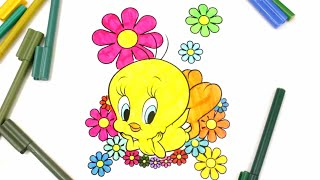 colouring Baby Looney Toons Tweety, colouring Tweety for Kids