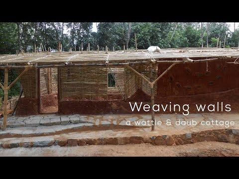 Weaving walls, a wattle & daub cottage