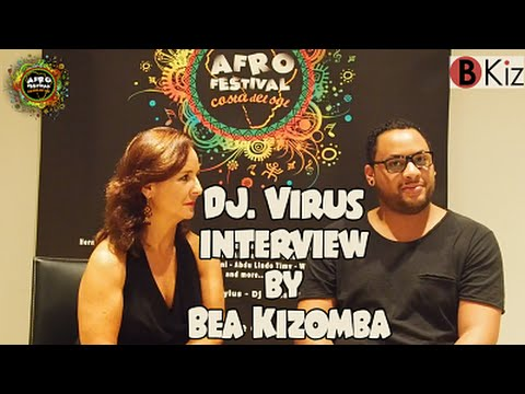 DJ VIRUS & BEA KZOMBA interview in AFROFESTIVAL COSTA DEL SOL 2015