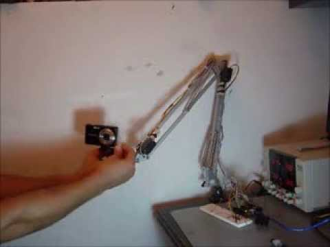 IKEA Tertial hack - Robotic arm that records and plays movement