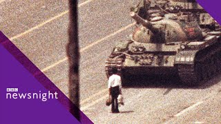 ARCHIVE: Tanks roll into Tiananmen Square (4 June 1989)  - BBC Newsnight