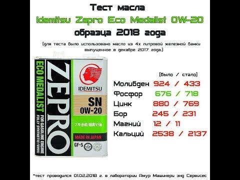 Idemitsu Zepro Eco Medalist 0w20 SN\GF-5 - Смешные видео приколы