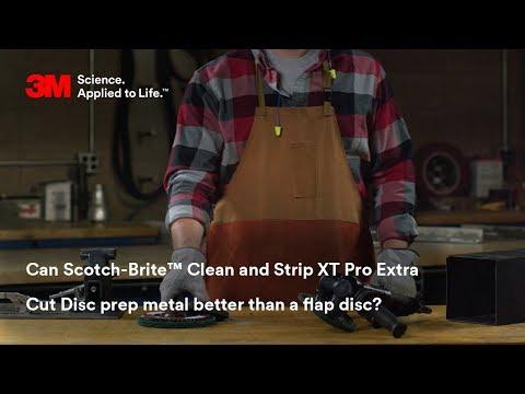 Can Scotch-Brite™ Clean and Strip XT Pro Extra Cut Disc prep metal better than a flap disc?