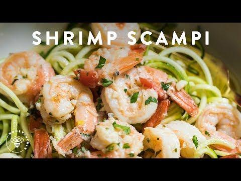 SHRIMP SCAMPI ZOODLES Easy Recipe ��Delish Noodle Series | HONEYSUCKLE