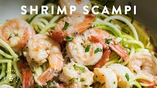 SHRIMP SCAMPI ZOODLES Easy Recipe 🍜Delish Noodle Series