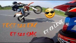 TEST #5: KTM 125 EXC ET 125 HUSQVARNA SMS, 2 MONSTRES