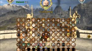 LEGO Lord Of The Rings ALL PLAYABLE CHARACTERS UNLOCKED! (Blacksmith, Sauron etc.) (HD-PC)