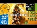 Mortal Kombat 11 - GTX 1060 6gb / 3gb - 1080p - 1440p - 1800p - 4K - i3 8100 - PC Performance