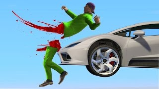 SPLIT IN HALF BY A SUPERCAR! (GTA 5 Funny Moments)