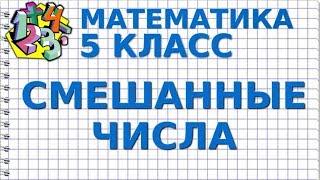 СМЕШАННЫЕ ЧИСЛА. Видеоурок | МАТЕМАТИКА 5 класс