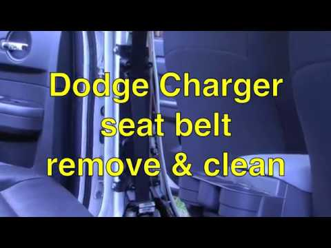 Dodge Charger seat belt cleaning
