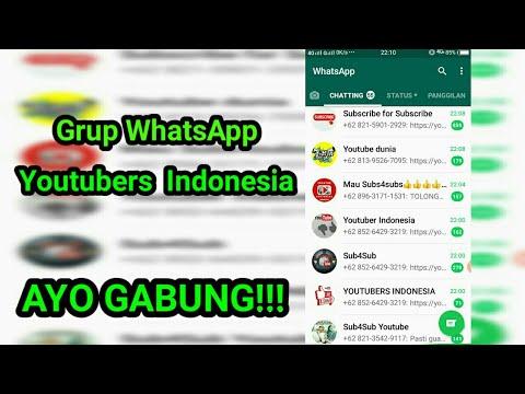 Grup WhatsApp Youtubers Indonesia, Youtubers Pemula Wajib Masuk