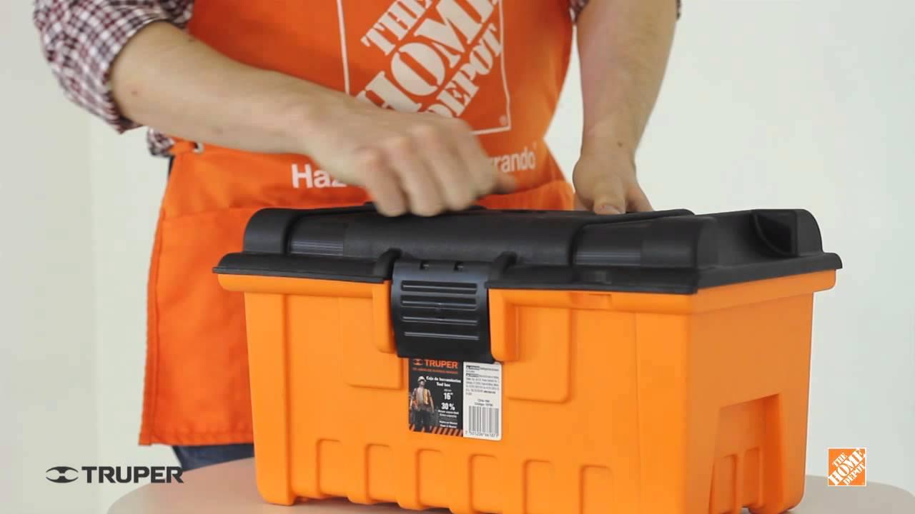 Caja para herramientas de 16 truper youtube for Home depot herramientas