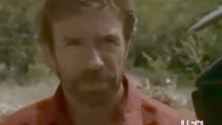 Chuck Norris stares a man to death...