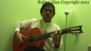Composition lesson 3 on Tanguillo/ free flamenco contemporary guitar lesson by Ruben Diaz