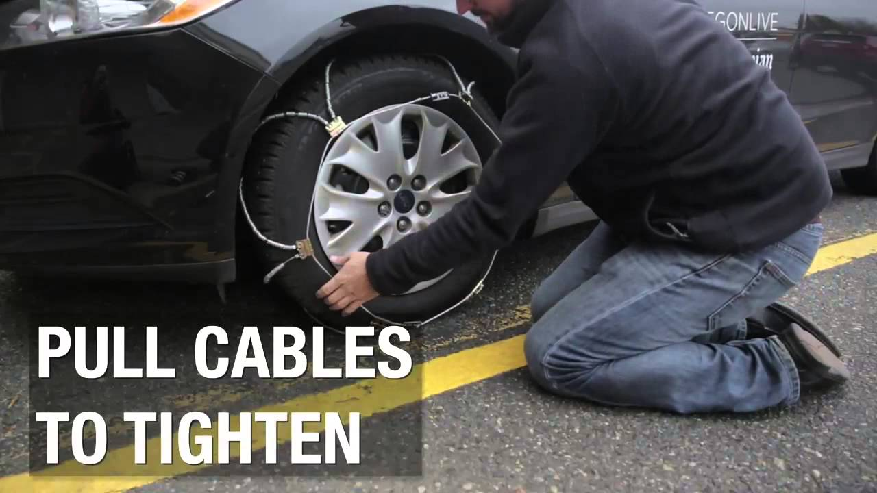 How To Put Snow Chains On Tires Youtube