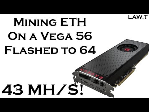 Flashed RX Vega 56 Mining | Law.vLog